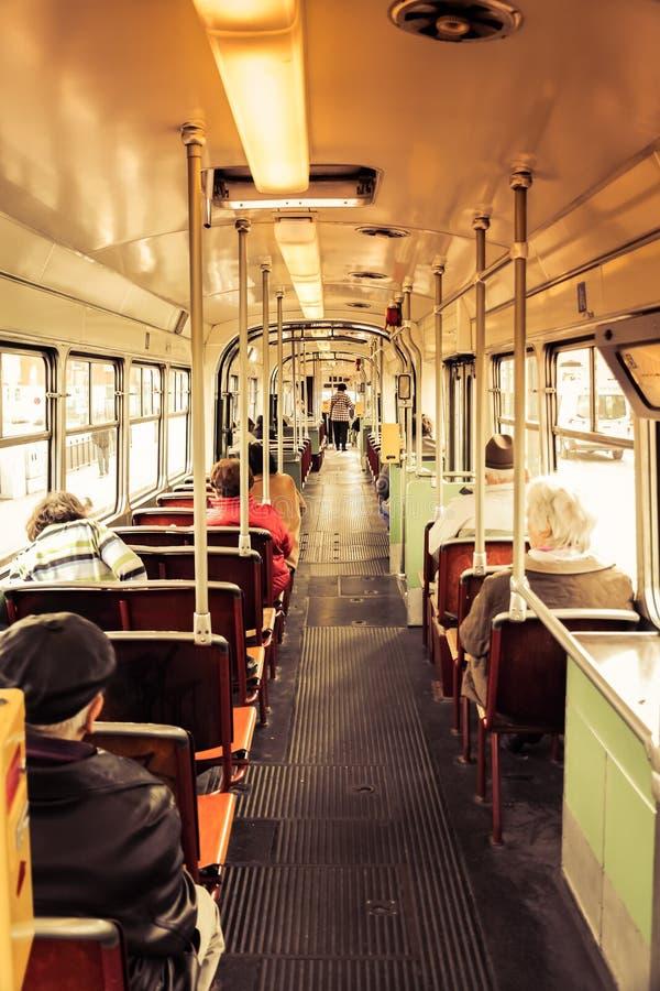 Vieux tram int?rieur photos libres de droits