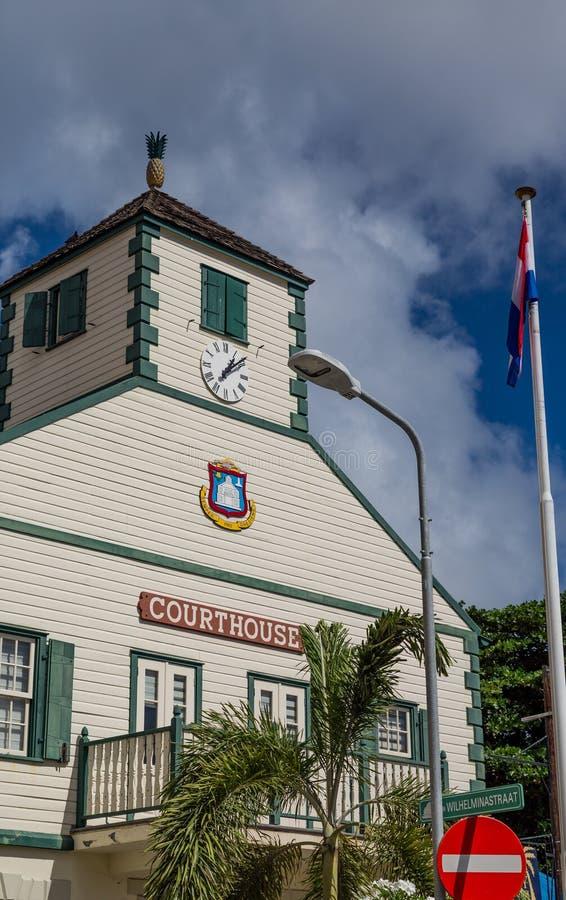 Vieux tribunal de Philipsburg image libre de droits