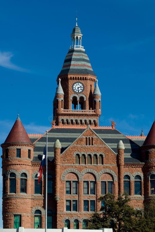 Vieux tribunal rouge photo libre de droits