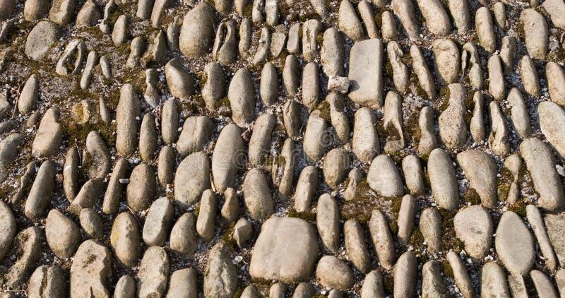 Vieux trottoir de pierres images libres de droits