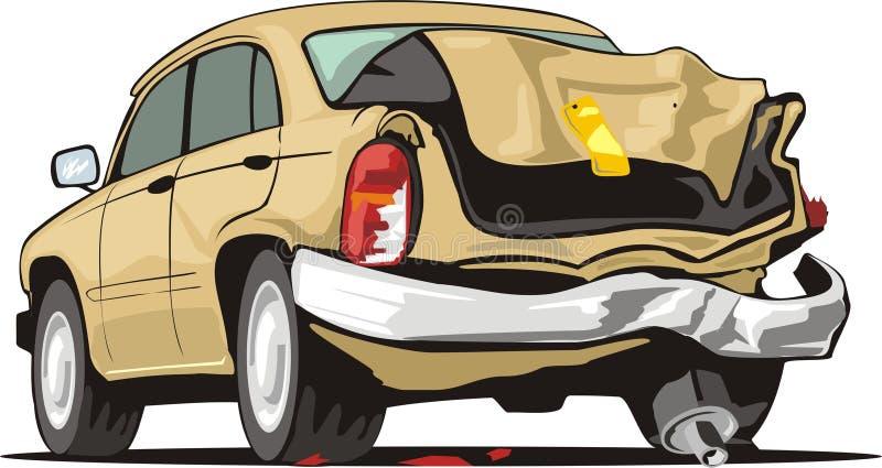 Vieux véhicule de crash illustration libre de droits