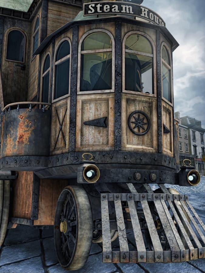 Vieux véhicule de vapeur illustration libre de droits