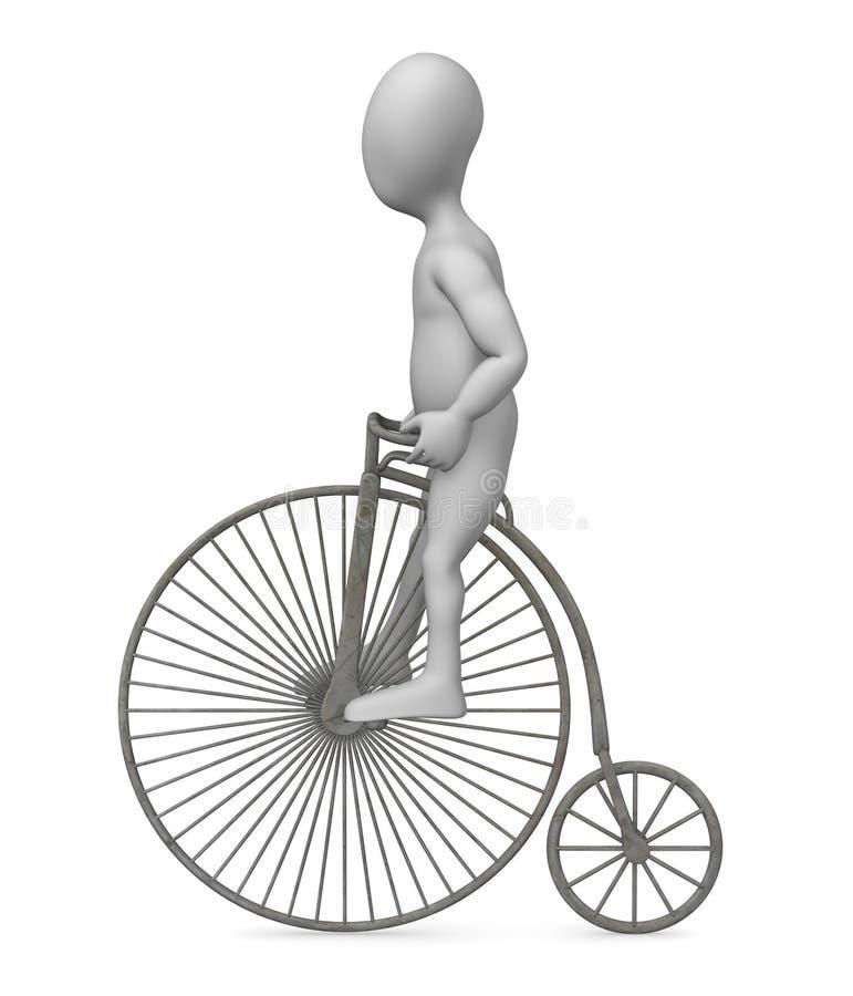 Vieux vélo illustration libre de droits