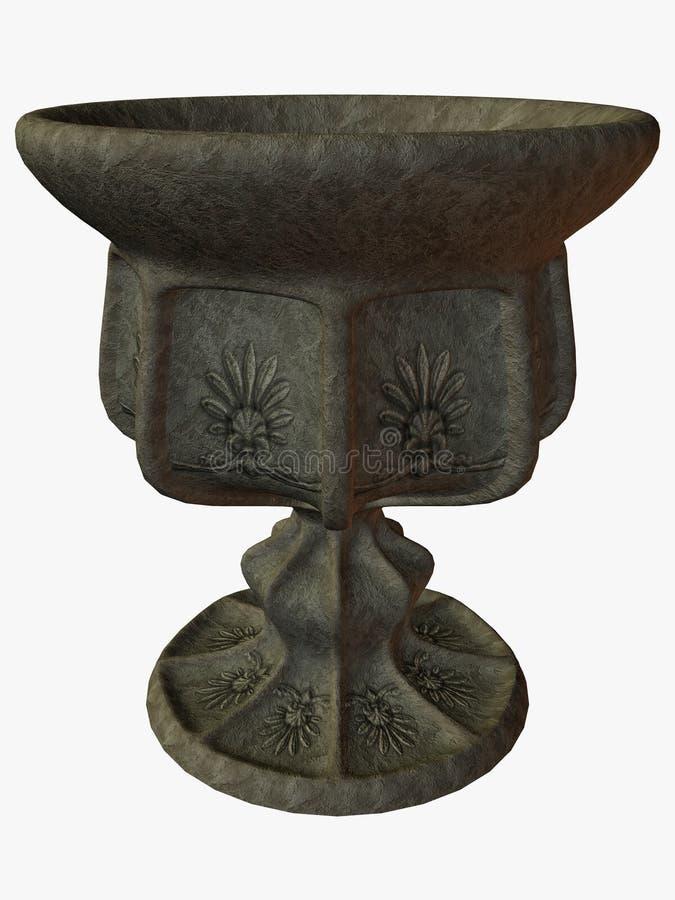 Vieux vase illustration de vecteur