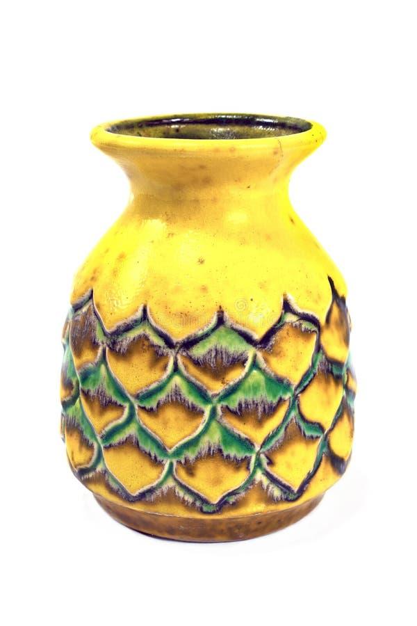 Vieux vase en céramique image libre de droits