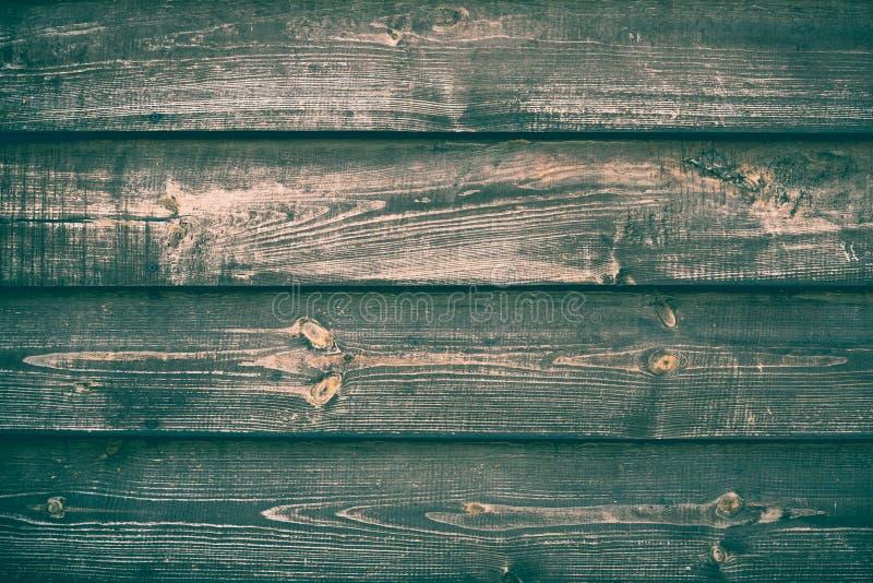 Vieux vert en bois et texture brune de fond R?tro table en bois Contexte de bois de construction de cru D?coration int?rieure Boi photographie stock libre de droits