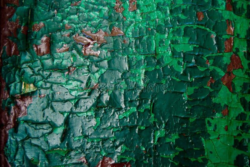 Vieux vert peint en bois et fond rustique brun texture de peinture épluchant  photos stock