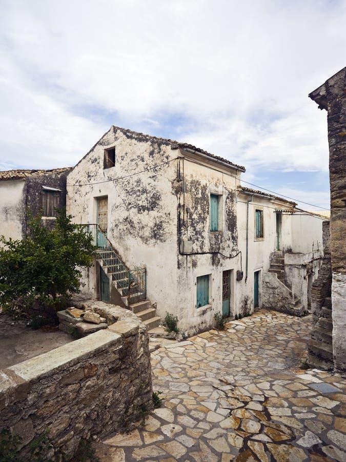 Vieux village à Corfou, Grèce photo stock