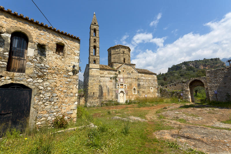 Vieux village de Kardamyli chez Mani, Grèce image libre de droits