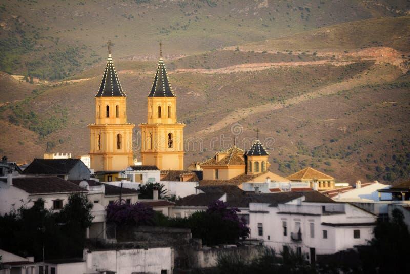 Vieux village de montagne espagnol photos libres de droits