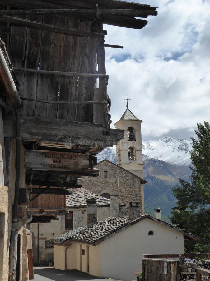 Vieux village de saint-Veran, dans les Alpes français image libre de droits
