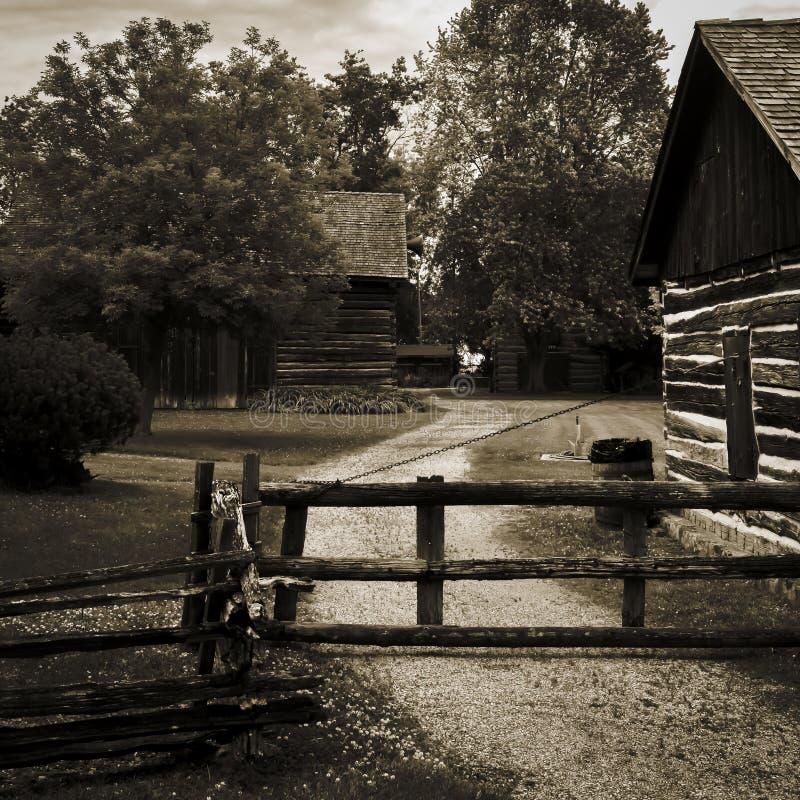 Vieux village pionnier #2 photo libre de droits