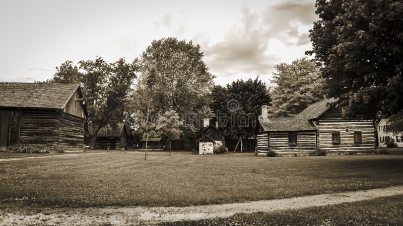 Vieux village pionnier #1 images libres de droits