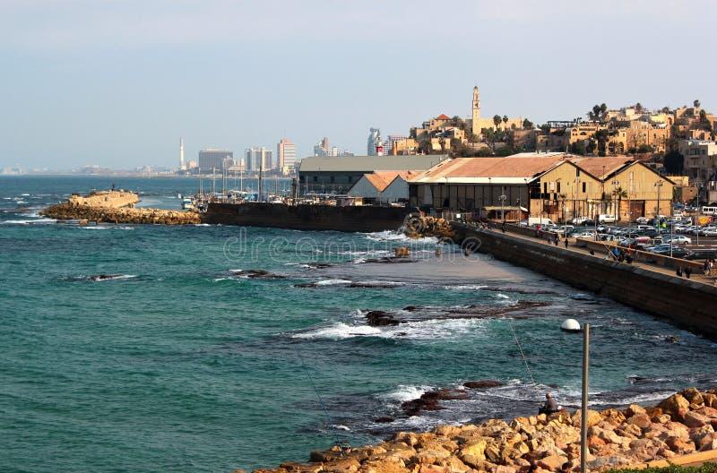 Vieux ville et port de Jaffa à Tel Aviv image libre de droits