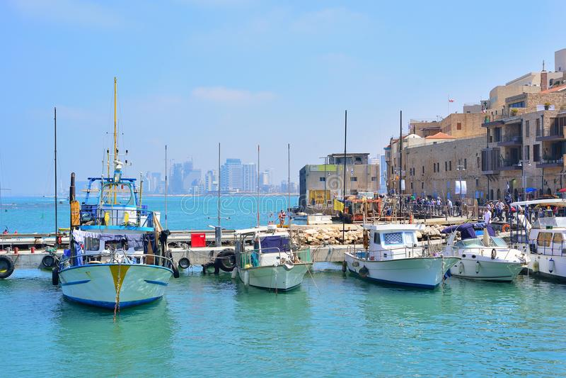 Vieux ville et port de Jaffa de ville de Tel Aviv, Israël photos stock