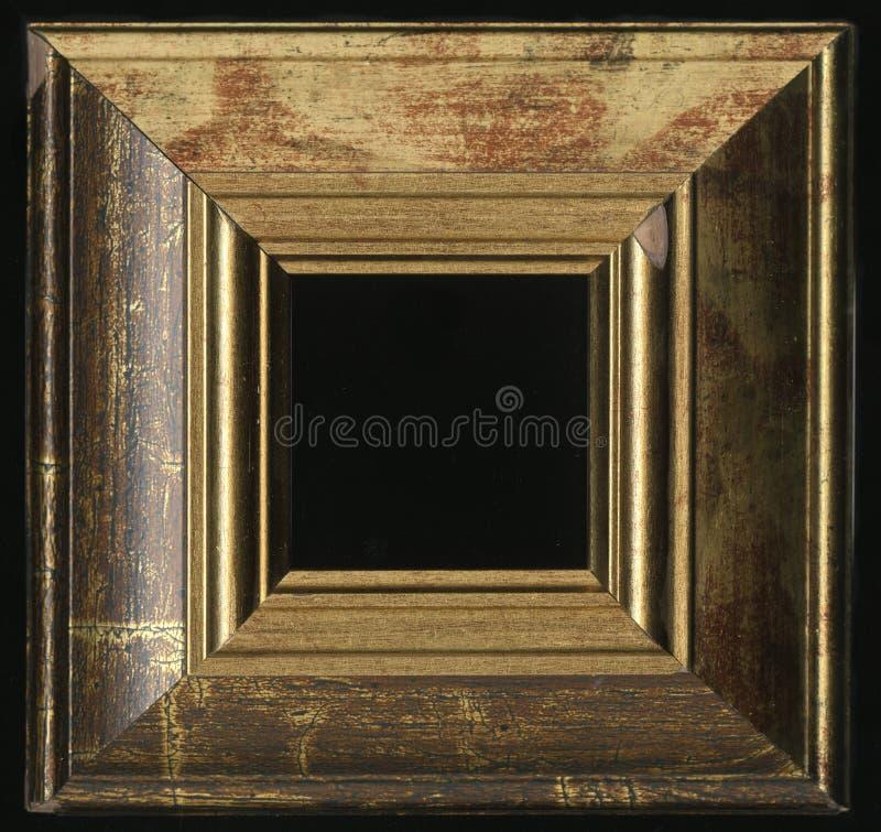Vieux, vintage, cadre antique d'isolement sur le fond noir photo libre de droits