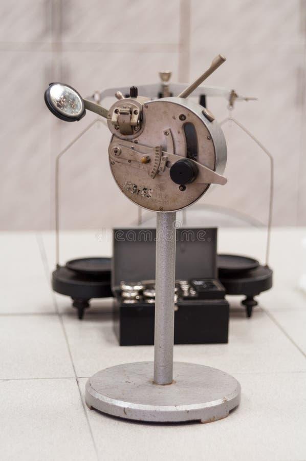 Vieux vintage de réfractomètre photographie stock libre de droits