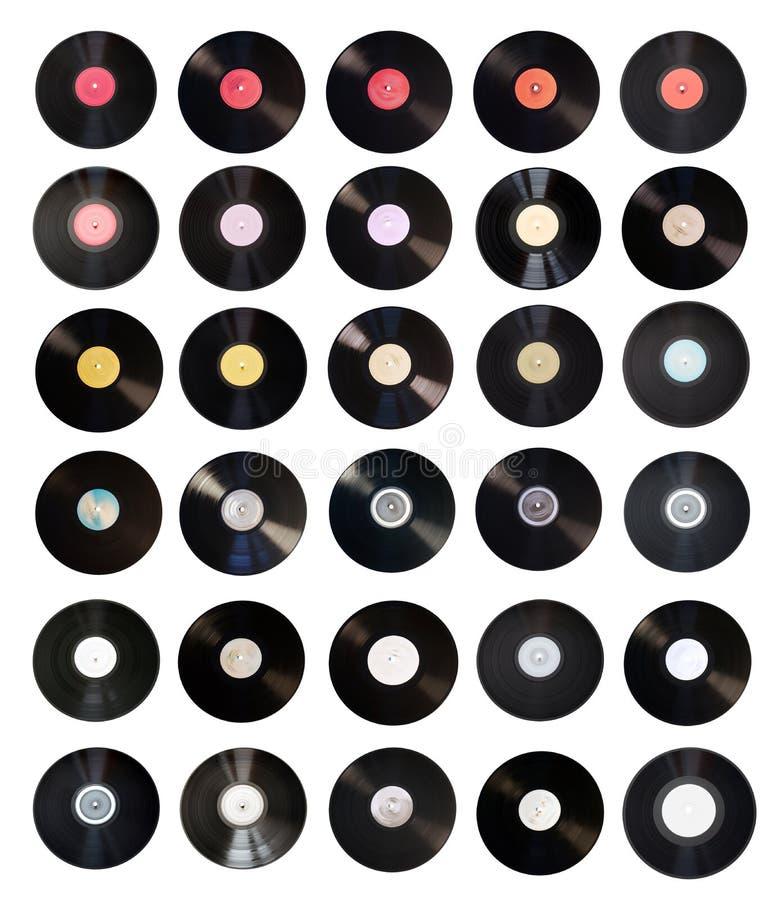 vieux vinyle d'enregistrements de ramassage photos stock