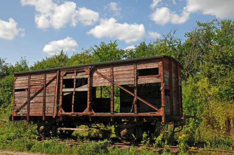 Vieux wagon ferroviaire abandonné photos libres de droits