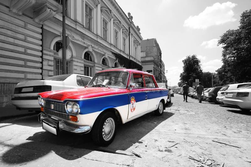 Vieux zastava serbe de voiture photos libres de droits