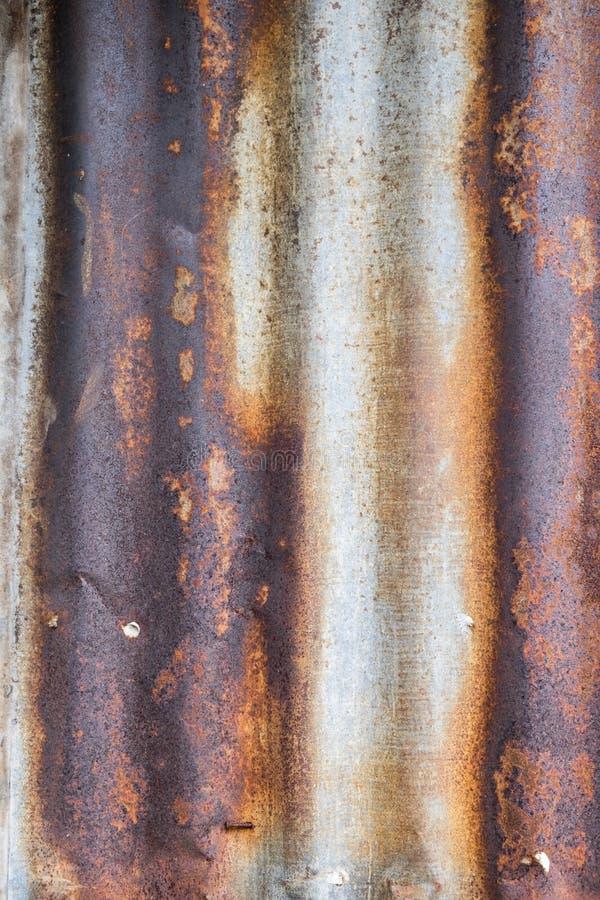 Vieux zinc galvanisé rouillé Fond de texture photographie stock