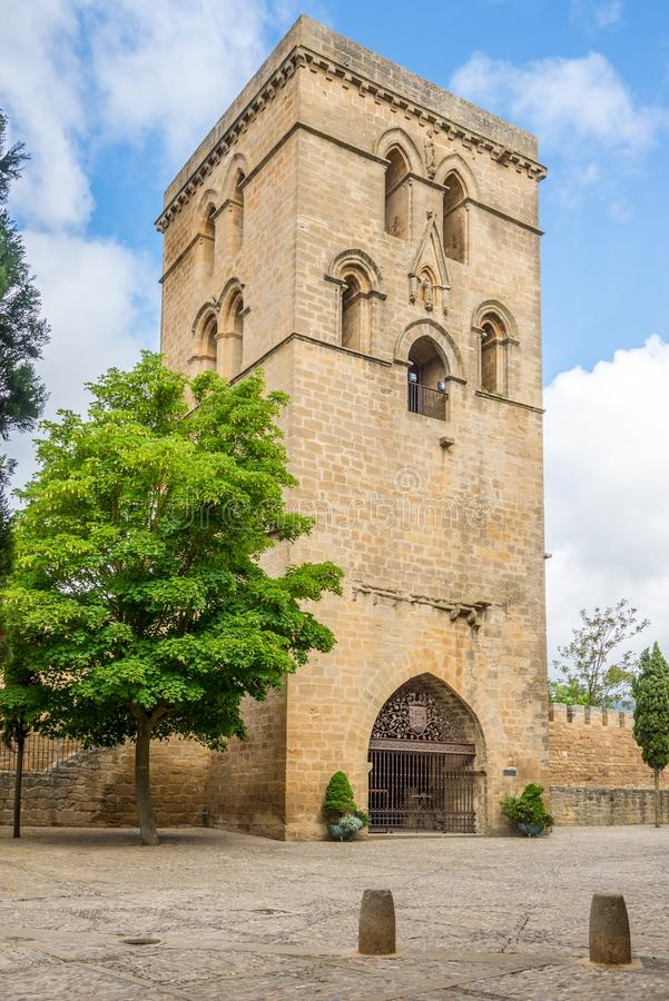 View at the Abacial Tower in Laguardia - Spain stock photos