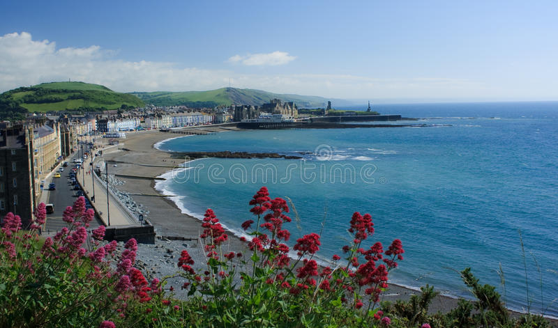 View of Aberystwyth stock photography