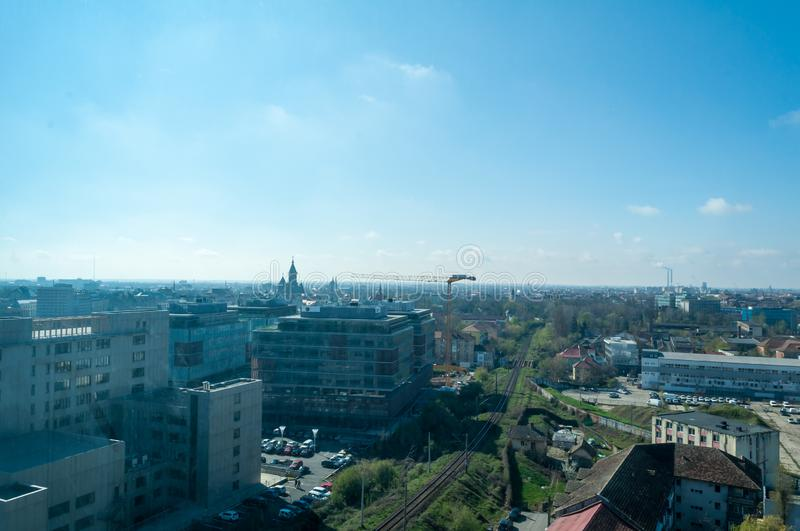 View from above the city. Aerial view. Balcony view royalty free stock images