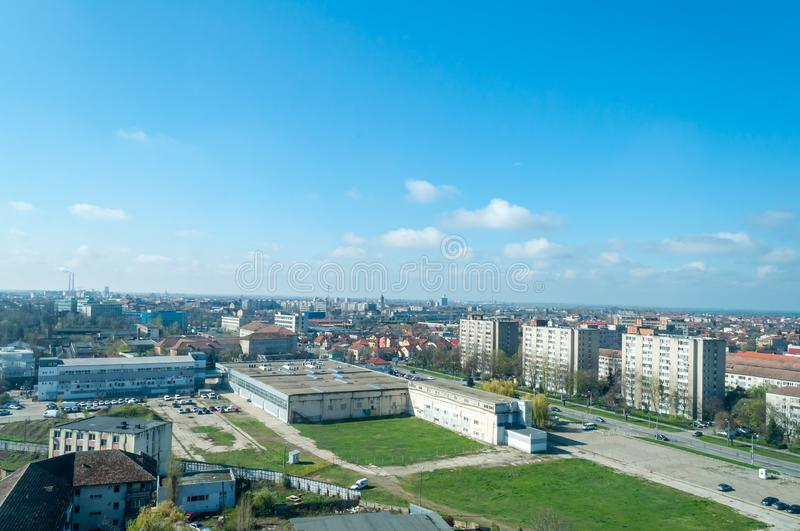 View from above the city. Aerial view. Balcony view stock photography