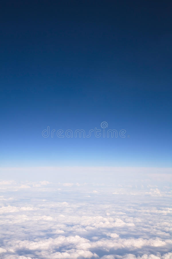 View above clouds royalty free stock image