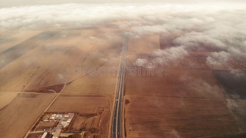 View from above the clouds stock images