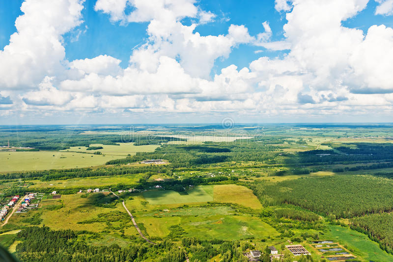 View above the earth on landmark down. stock image