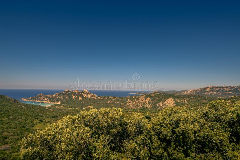 A view from above on a huge coastline. royalty free stock image