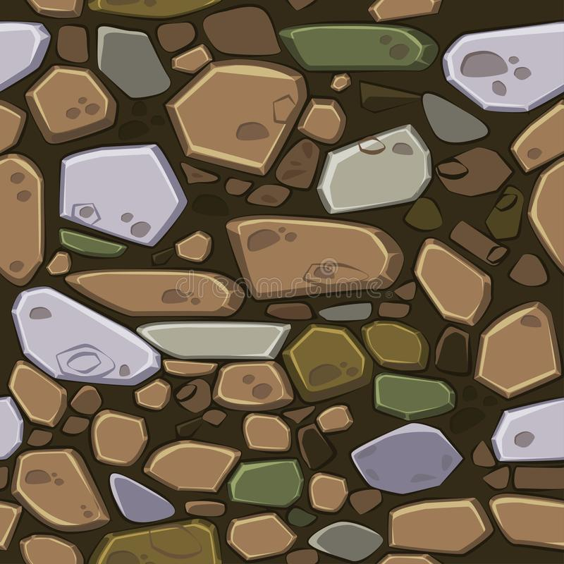 View from above seamless background texture colored stones. Illustration For Ui Game element. View from above seamless background texture colored stones. Vector vector illustration