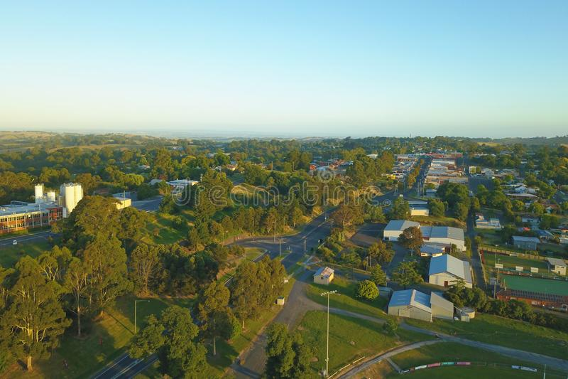 Download Korumburra Township In South Gippsland Stock Photo - Image of australia, above: 107004356