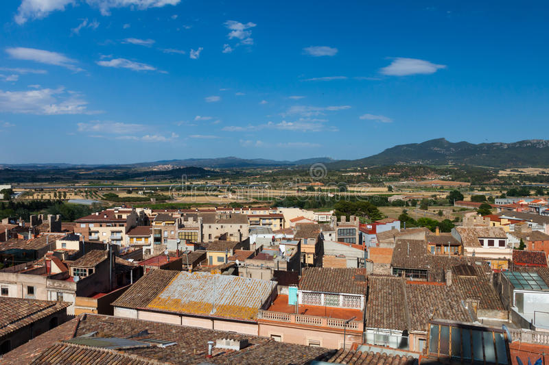 Download View From Above On Spanish Town Stock Image - Image: 26434937