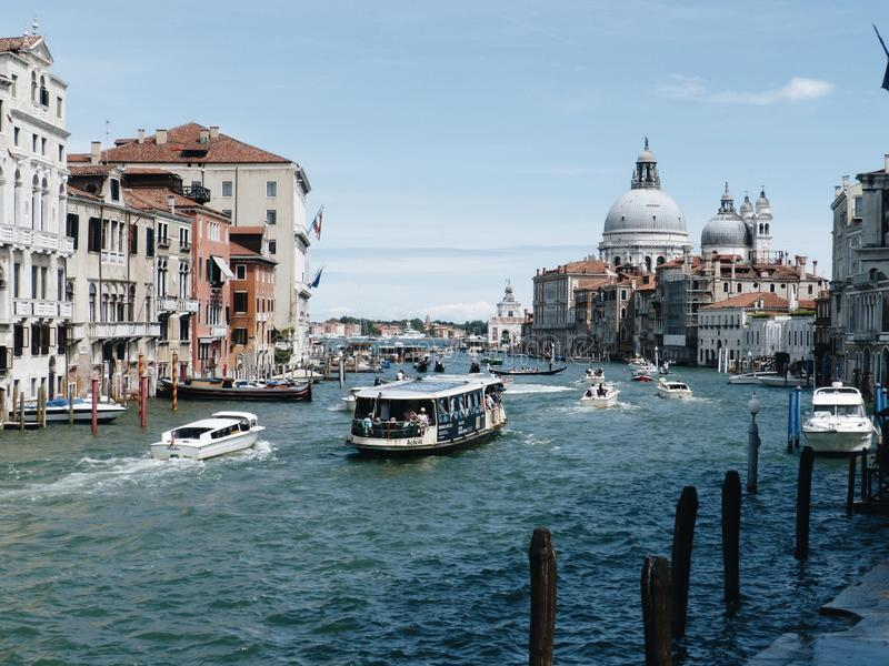 View from the Accademia Bridge stock photography