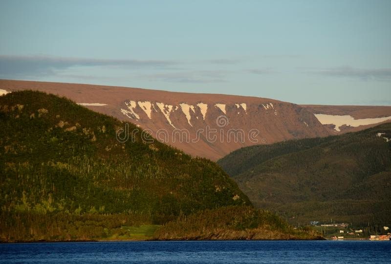 Bonne Bay view towards the Tablelands royalty free stock images
