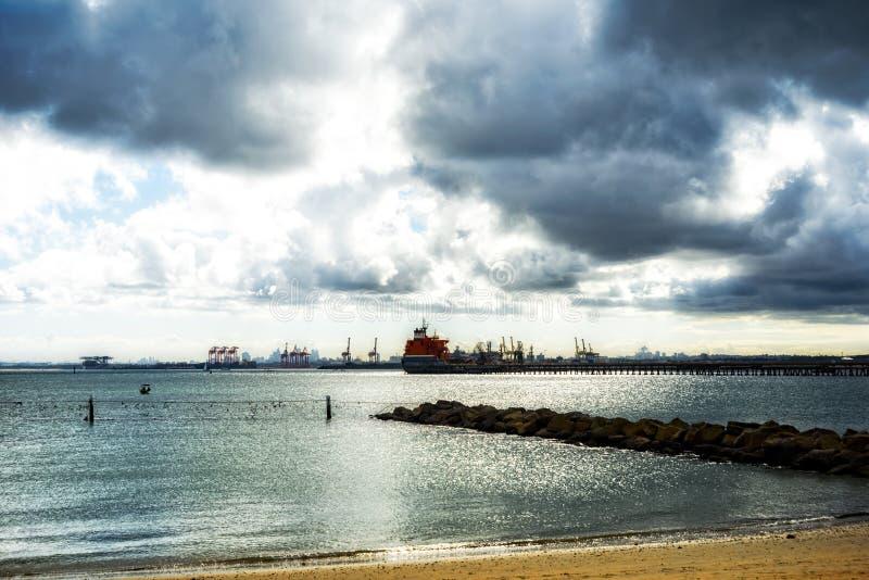 View Across Botany Bay Australia royalty free stock photo