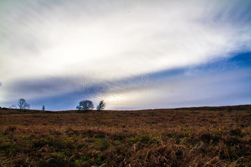 View across derbyshire moor land royalty free stock image