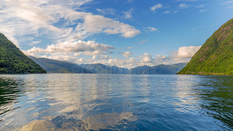 View across the Sognefjord, Norway royalty free stock photo
