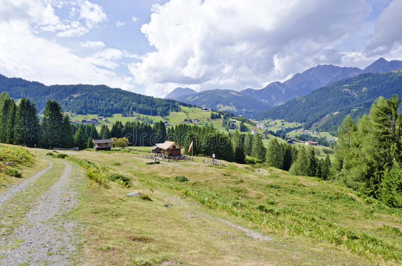 View across the Steineckenalm stock photography