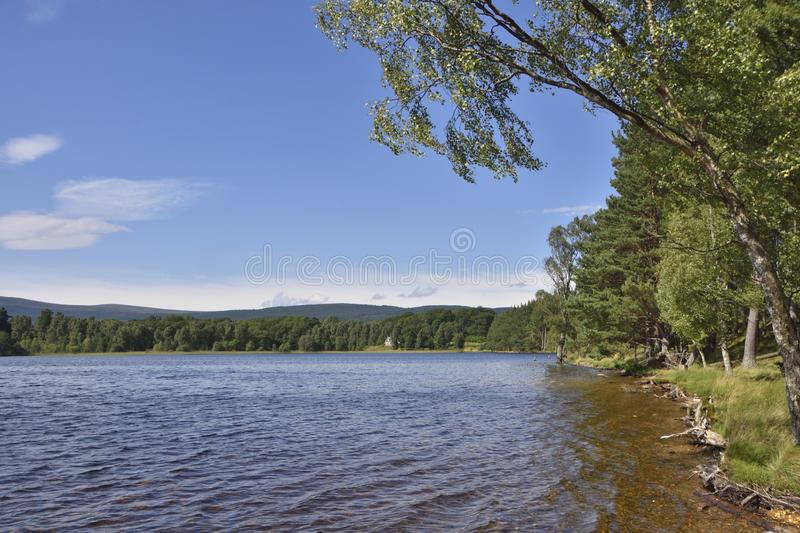 Charming Loch Scene in the Scottish Highlands royalty free stock photos