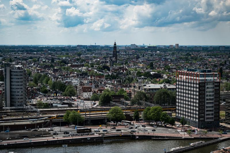 View from Adam Lookout in Amsterdam. royalty free stock images