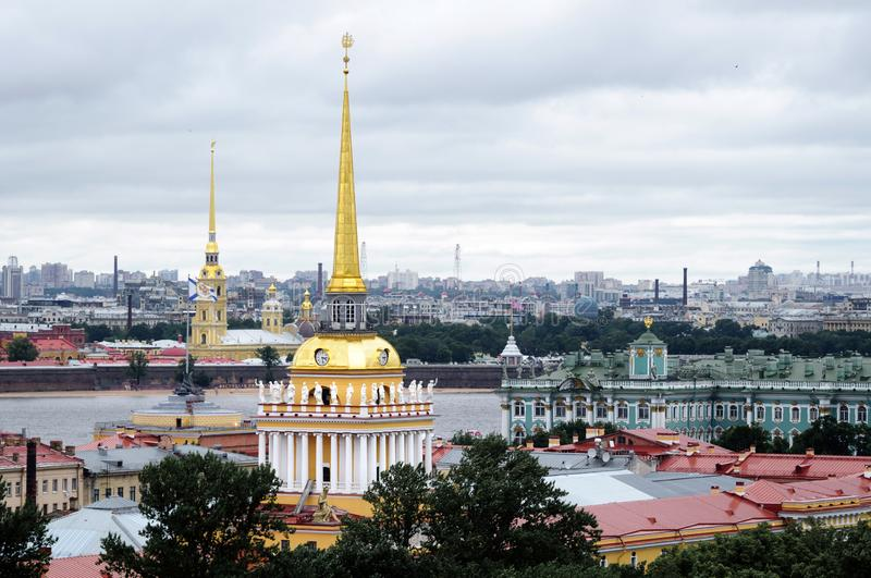 View of the Admiralty, Peter and Paul Fortress and the Hermitage stock image