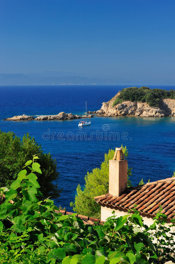 Download View from an Aegean island stock image. Image of color - 15981779