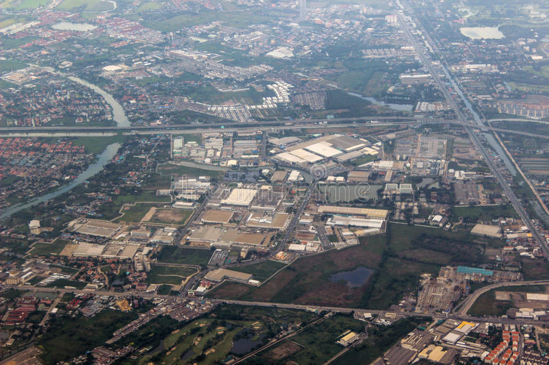 The view of aerial photography stock photography