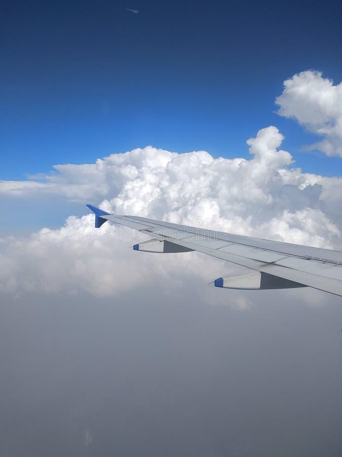 Aeroplane wing royalty free stock photos