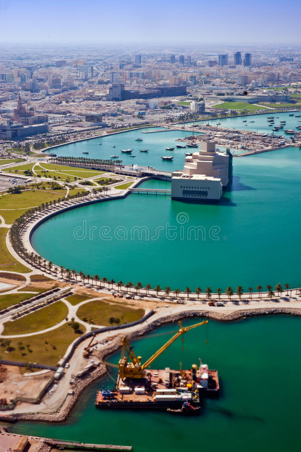 View From Air On The Coast Of The Persian Gulf Royalty Free Stock Image