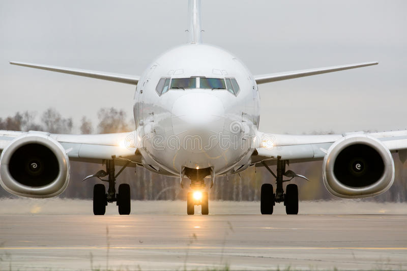 View of an aircraft preparing to take off